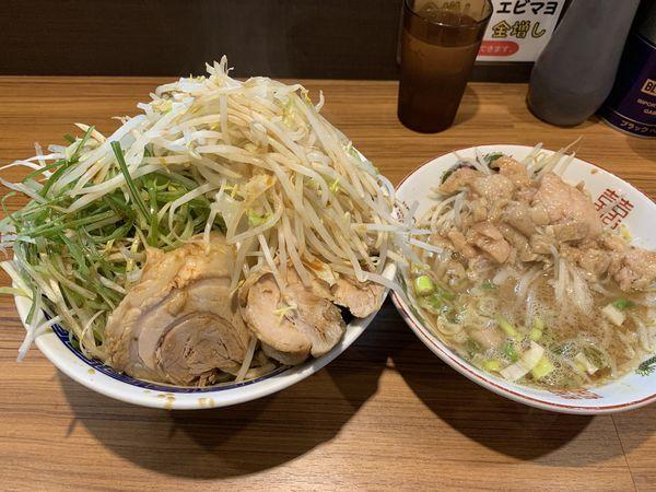 「つけ麺(大) 味ネギ」@びんびん豚の写真
