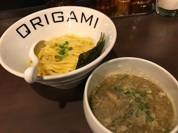 「ORIGAMIつけ麺(あっさり)」@麺屋 ORIGAMIの写真