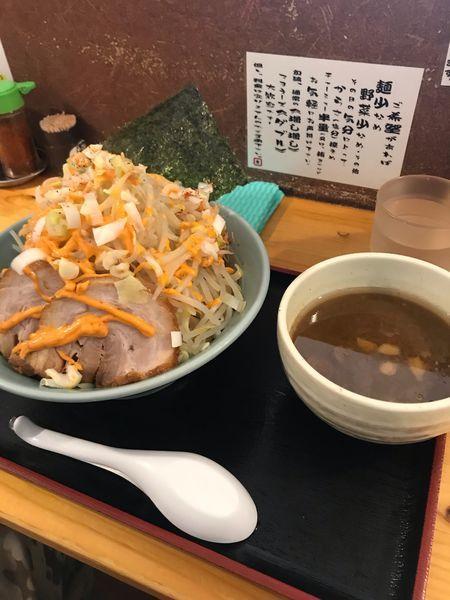 「つけ麺 並【ヤサイ増し増し、麺増し、カラマヨダブル】」@ラーメン慶次郎 本店の写真