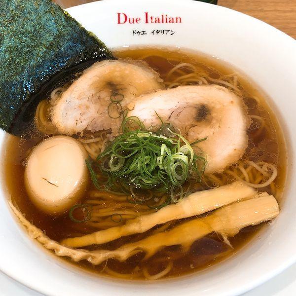 「醤油玉子らぁ麺 ¥980」@ドゥエ イタリアン 市ヶ谷本店の写真