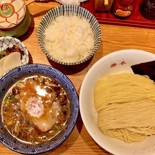 「清湯つけそば830+ご飯100」@神田 勝本の写真