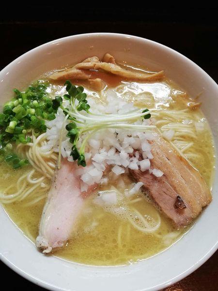「濃厚塩鶏そば」@麺屋くまがいの写真