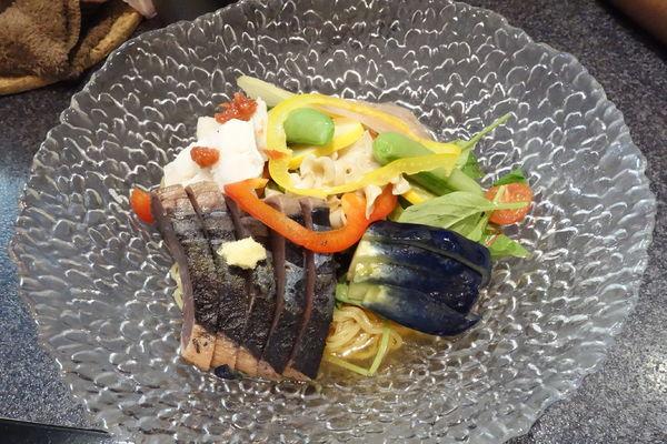 「【限定】涼三 魚ひやし」@烈志笑魚油 麺香房 三くの写真