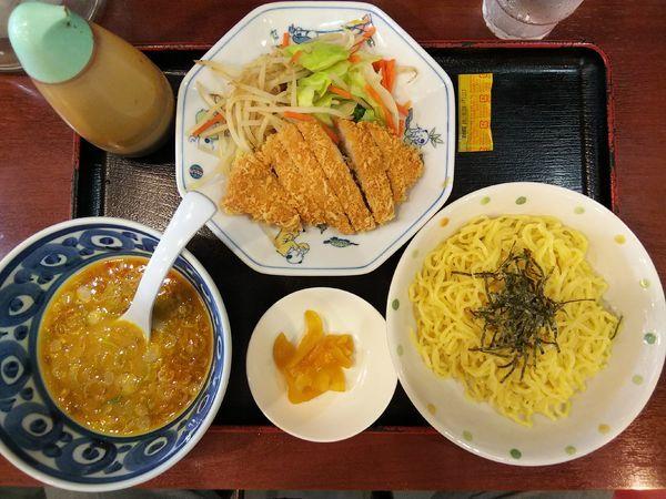 「【限定?】ミニかつ塩麹カレーつけ麺(ヨーグルト入り)」@れいれい亭の写真