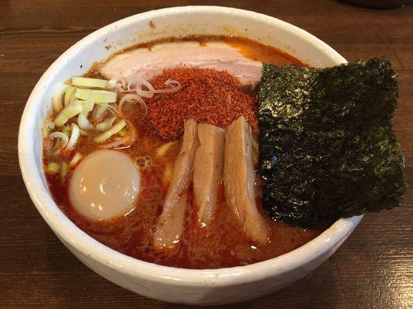「辛辛魚味玉らーめん(辛さ普通)」@麺処 井の庄の写真