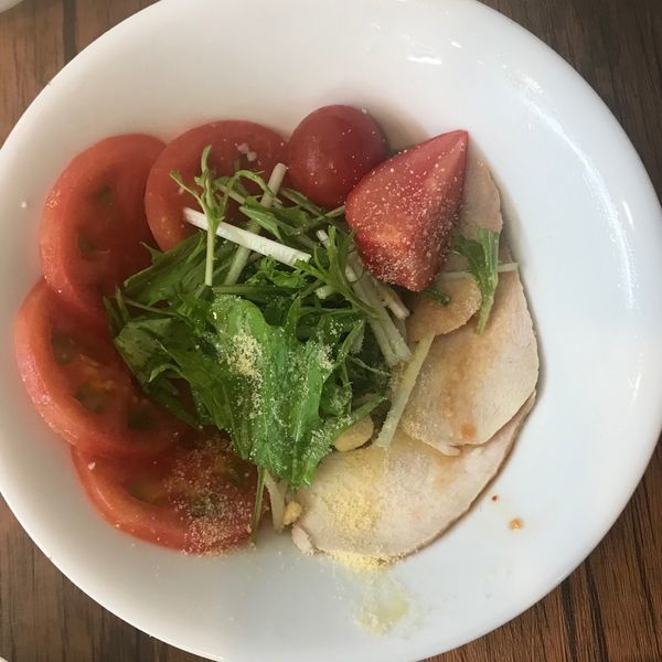 「冷やしトマト中華 850円」@鳥白湯ラーメン はらやの写真