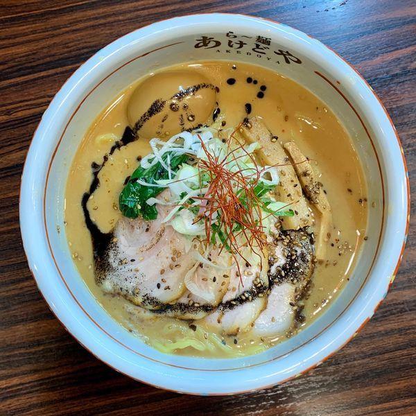 「胡麻味噌ラーメン」@らー麺 あけどやの写真