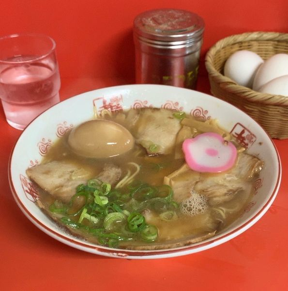 「特製中華そば 味付煮玉子」@井出商店の写真