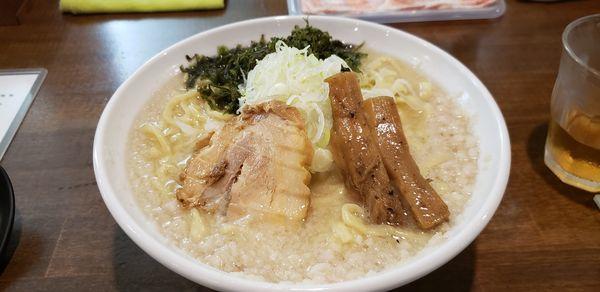 「背脂 塩 背脂増し 麺300g」@ラーメン 和なりの写真