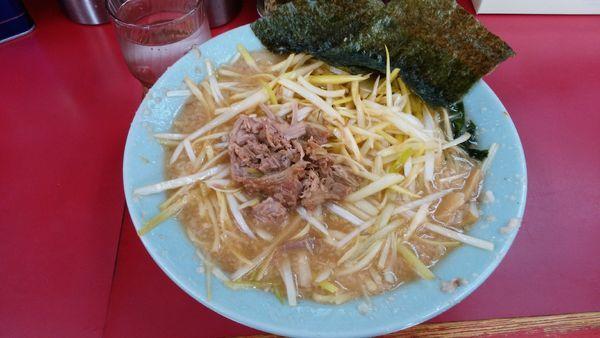 「ネギラーメン+ネギ増し¥750-(太麺)」@ラーメンショップ 牛久結束店の写真