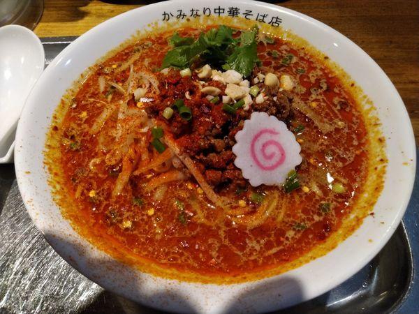 「【限定】魚介担々麺」@かみなり中華そば店の写真