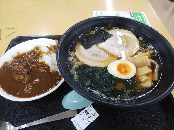 「喜多方ラーメン/ミニカレー1000円」@レストラン峠 国見SA上り線の写真