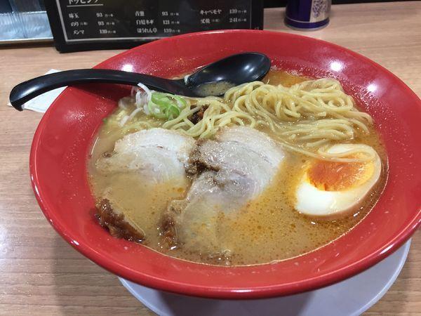 「えび豚骨味噌拉麺¥732+税」@えび豚骨 真面目の写真