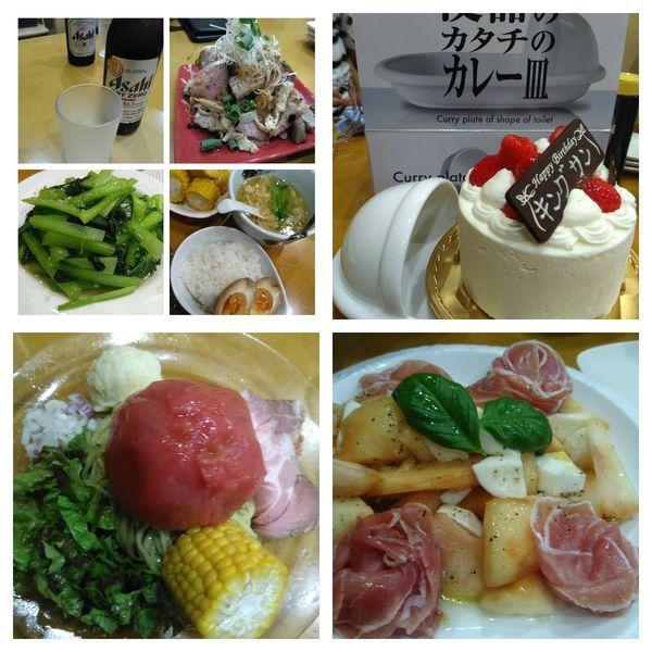 「【限定】桃果汁つけトマトのせジュノベーゼパスタなど」@麺屋 扇 SENの写真