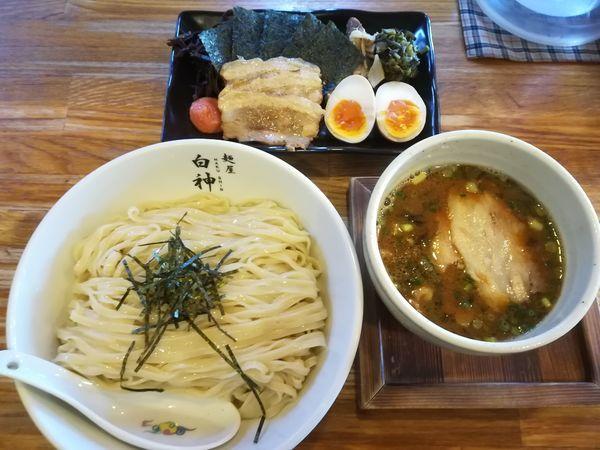 「博多つけ麺 全部のせ(大盛り)」@二代目 白神の写真