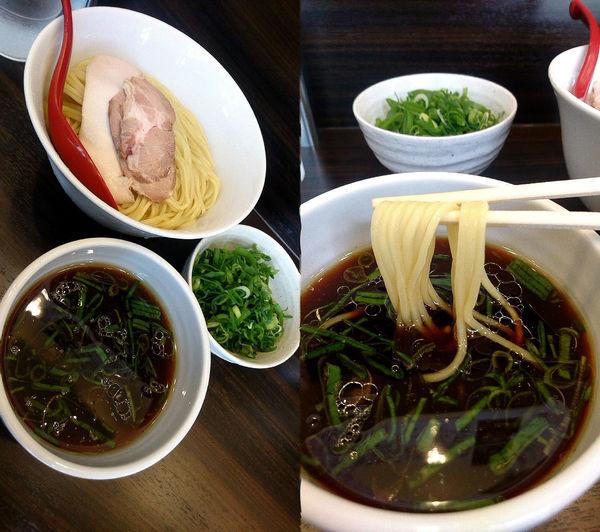 「『つけ麺+大盛+九条ネギ(¥850+100+150)』」@麺屋かなでの写真