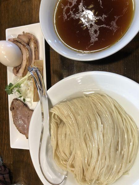 「鳥醤油つけ麺 春よ恋小麦麺210g 750円」@Soupmenの写真