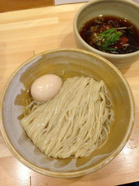 「味玉・醤油つけ麺 1000円」@迂直の写真