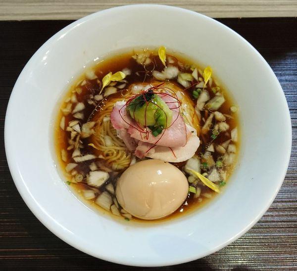 「鶏と水+味玉」@つくばらーめん 鬼者語 -オニモノガタリ-の写真