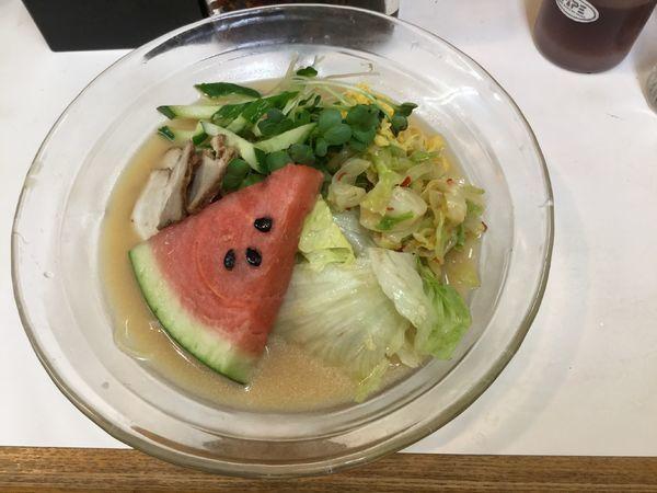 「【夏期限定】冷し中華(¥500)」@名代ラーメン亭 博多駅地下街店の写真