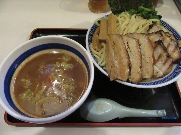 「限定 濃厚つけ麺(800円)+チャーシュー+中盛」@麺屋ゆうの写真