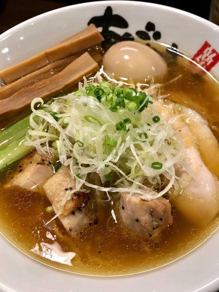 「旨塩鶏麺850円+味付けたまご100円」@麺屋 あごすけの写真