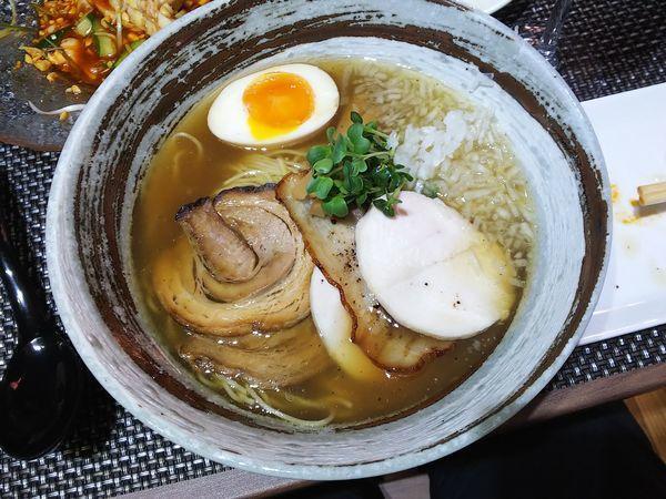 「石釜あご出汁麺 980円」@西山屋の写真