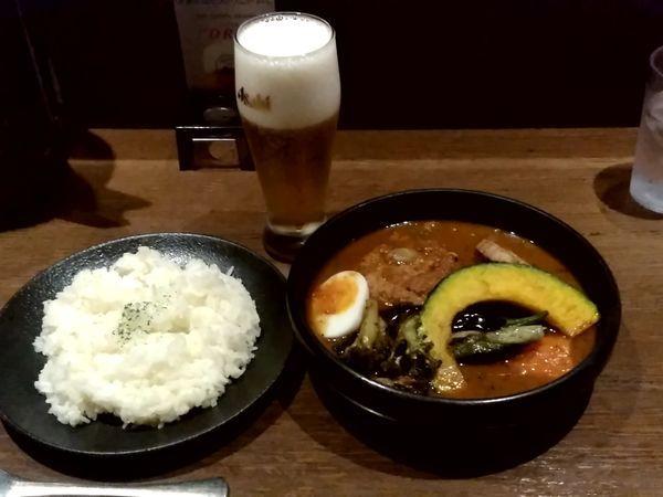 「鶏軟骨入りつくねのベジタブルカリー(並盛)1,250円」@スープカレー SHO-RINの写真