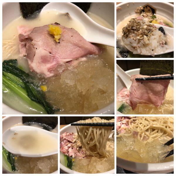 「冷やし縞鯵らーめん雑炊セット 1188円」@真鯛らーめん 麺魚 錦糸町PARCO店の写真
