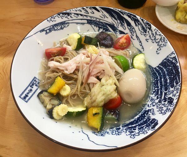 「鱧と夏野菜の冷製麺【限定】1200円」@麺屋BISQの写真