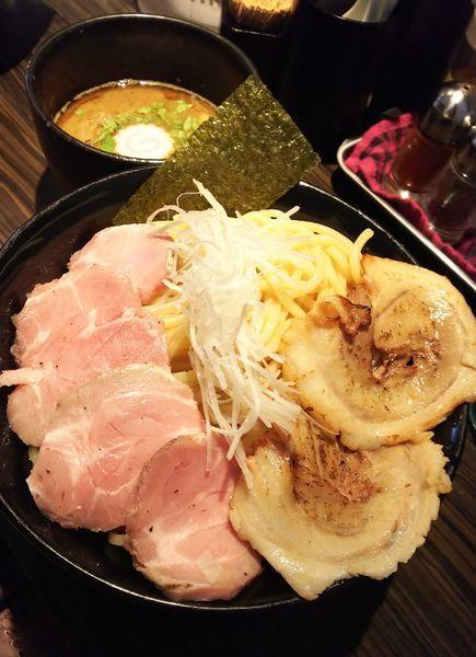 「魚介豚骨ちゃーしゅーつけ麺(大盛り)」@麺屋 ほたるの写真