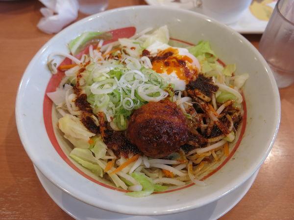 「台湾野菜まぜめん(辛シビ):640円」@幸楽苑 足立江北店の写真