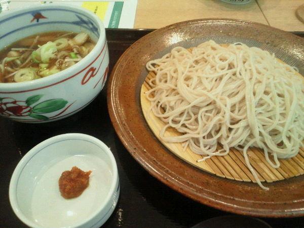 「スタミナ鶏ネギつけそば 698円+税」@十割そば会 福島西口本店の写真