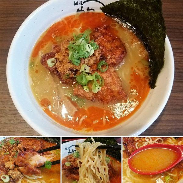 「スパイシーから揚げ麺 1380円」@麺屋 帆のる 浅草店の写真