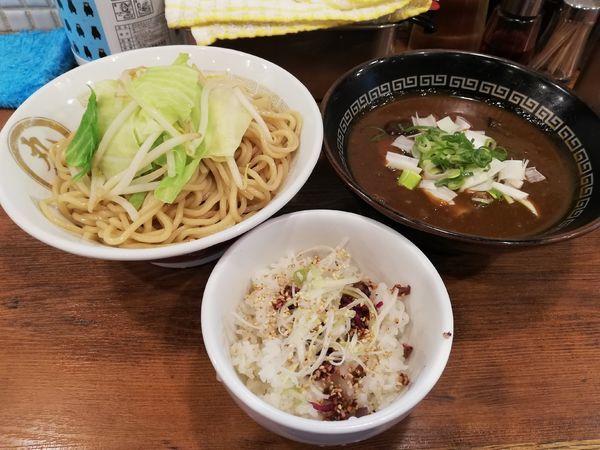「煮干カレーつけ麺 限定」@背脂煮干 丸め 新所沢店の写真
