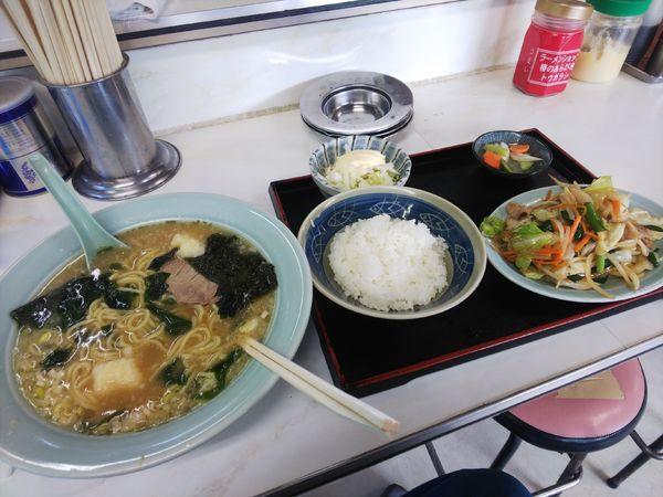 「C定食ラーメン半野菜定970円」@ラーメンショップ 下仁田店の写真