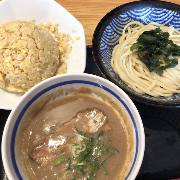 「塩つけめん+半チャーハン」@つくば麺屋こうじの写真