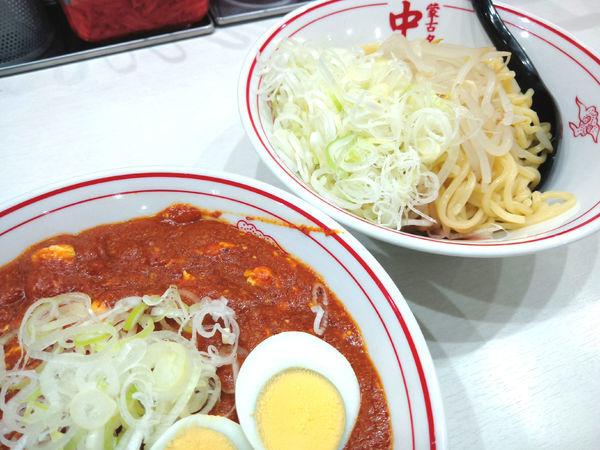 「【限定】つけ樺太(辛さ5倍) ¥880・ネギ ¥60」@蒙古タンメン 中本 上板橋本店の写真