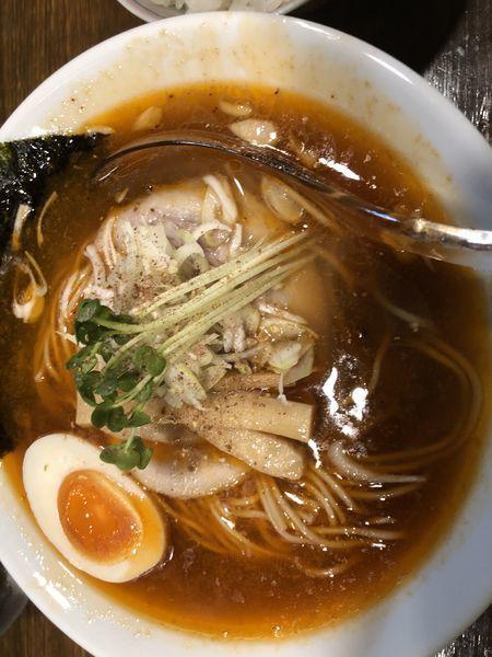 「海老醤油らぁ麺 北海道春よ恋小麦麺140g 650円」@Soupmenの写真