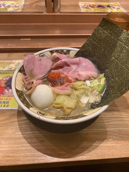 「特製すごい煮干ラーメン」@ラーメン凪 福岡空港店の写真