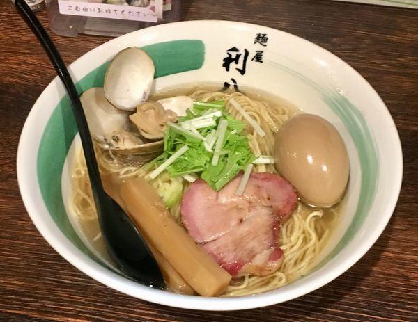 「蛤の中華そば」@自家製麺 麺屋 利八の写真