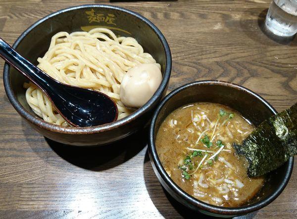 「濃厚味玉つけ麺(極太麺・中250g)」@麺屋 一路の写真