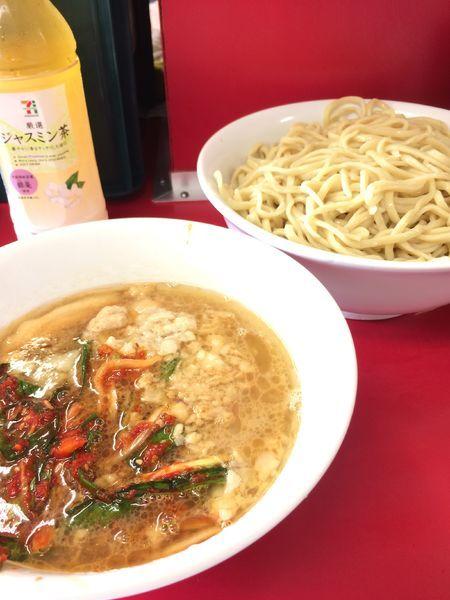 「つけ麺大+ネギキムチ」@ラーメン二郎 湘南藤沢店の写真