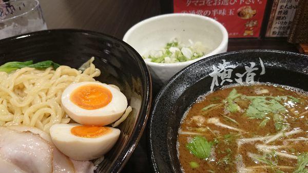 「魚介柚子胡椒つけ麺」@横道の写真