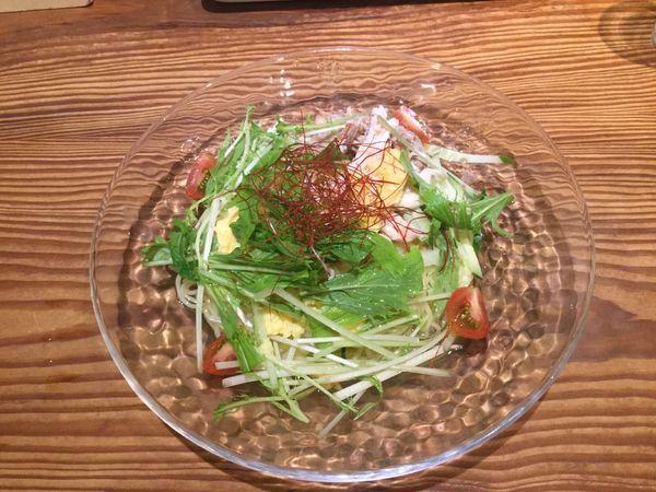 「【夏限定メニュー】和風まぜそば(¥850)」@ますたに 京都駅ビル拉麺小路店の写真