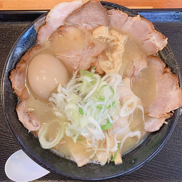 「濃厚鶏白湯 肉肉肉盛りそば+味玉」@麺屋 太陽の写真