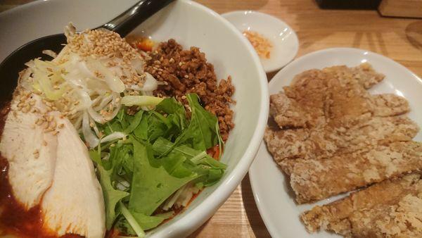 「排骨冷やし担々麺(限定、1150円、4辛)」@かつぎやの写真
