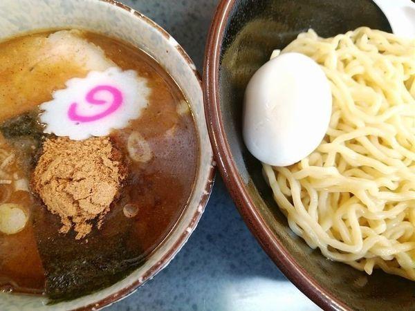 「もりつけ麺(中)+味付玉子」@ハッスルラーメンホンマ 亀戸本店の写真