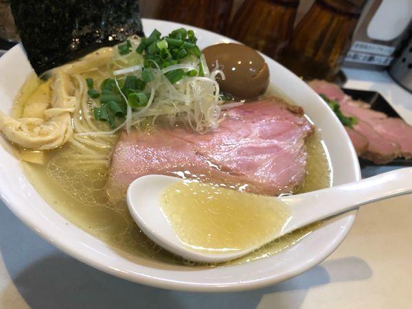「味玉塩ラーメン」@麺屋 扇 SENの写真