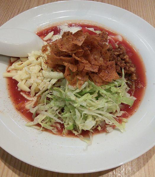 「【限定】太陽のメキシカンタコス冷麺 950円」@太陽のトマト麺 元住吉支店の写真